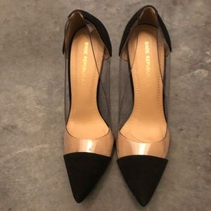 Black and clear pumps! Size 7.5 women's